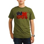 Samoa Flag Organic Men's T-Shirt (dark)