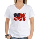 Samoa Flag Women's V-Neck T-Shirt