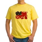 Samoa Flag Yellow T-Shirt