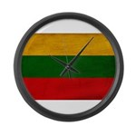 Lithuania Flag Large Wall Clock