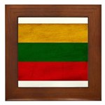 Lithuania Flag Framed Tile