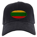Lithuania Flag Black Cap