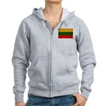 Lithuania Flag Women's Zip Hoodie
