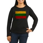 Lithuania Flag Women's Long Sleeve Dark T-Shirt
