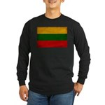 Lithuania Flag Long Sleeve Dark T-Shirt