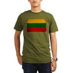 Lithuania Flag Organic Men's T-Shirt (dark)