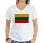 Lithuania Flag Women's V-Neck T-Shirt