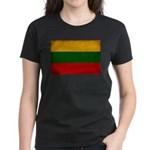 Lithuania Flag Women's Dark T-Shirt