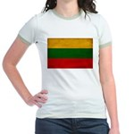 Lithuania Flag Jr. Ringer T-Shirt