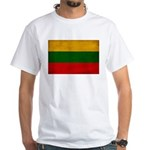 Lithuania Flag White T-Shirt
