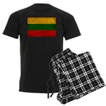 Lithuania Flag Men's Dark Pajamas