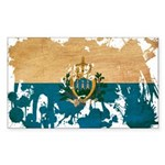 San Marino Flag Sticker (Rectangle 10 pk)