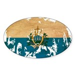 San Marino Flag Sticker (Oval 50 pk)