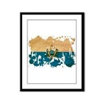 San Marino Flag Framed Panel Print