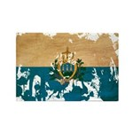 San Marino Flag Rectangle Magnet (100 pack)