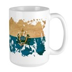 San Marino Flag Large Mug