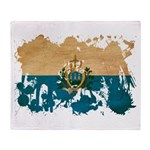 San Marino Flag Throw Blanket