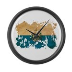 San Marino Flag Large Wall Clock