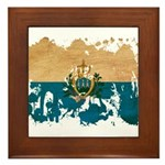 San Marino Flag Framed Tile