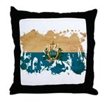 San Marino Flag Throw Pillow