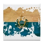 San Marino Flag Tile Coaster