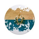San Marino Flag Ornament (Round)