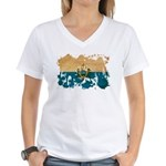 San Marino Flag Women's V-Neck T-Shirt