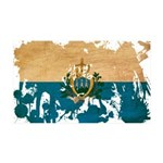San Marino Flag 38.5 x 24.5 Wall Peel