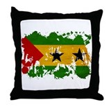 Sao Tome and Principe Flag Throw Pillow