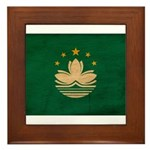 Macau Flag Framed Tile