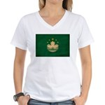 Macau Flag Women's V-Neck T-Shirt