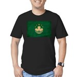 Macau Flag Men's Fitted T-Shirt (dark)