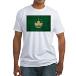 Macau Flag Fitted T-Shirt