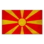 Macedonia Flag Sticker (Rectangle 50 pk)