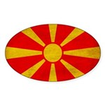 Macedonia Flag Sticker (Oval 50 pk)