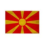 Macedonia Flag Rectangle Magnet (100 pack)
