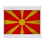 Macedonia Flag Throw Blanket