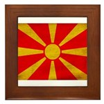 Macedonia Flag Framed Tile