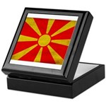 Macedonia Flag Keepsake Box