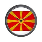 Macedonia Flag Wall Clock