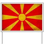 Macedonia Flag Yard Sign