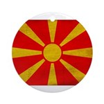 Macedonia Flag Ornament (Round)