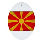 Macedonia Flag Ornament (Oval)