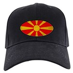 Macedonia Flag Black Cap