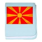 Macedonia Flag baby blanket