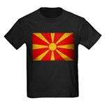 Macedonia Flag Kids Dark T-Shirt