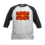 Macedonia Flag Kids Baseball Jersey