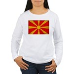 Macedonia Flag Women's Long Sleeve T-Shirt