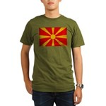 Macedonia Flag Organic Men's T-Shirt (dark)