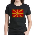 Macedonia Flag Women's Dark T-Shirt